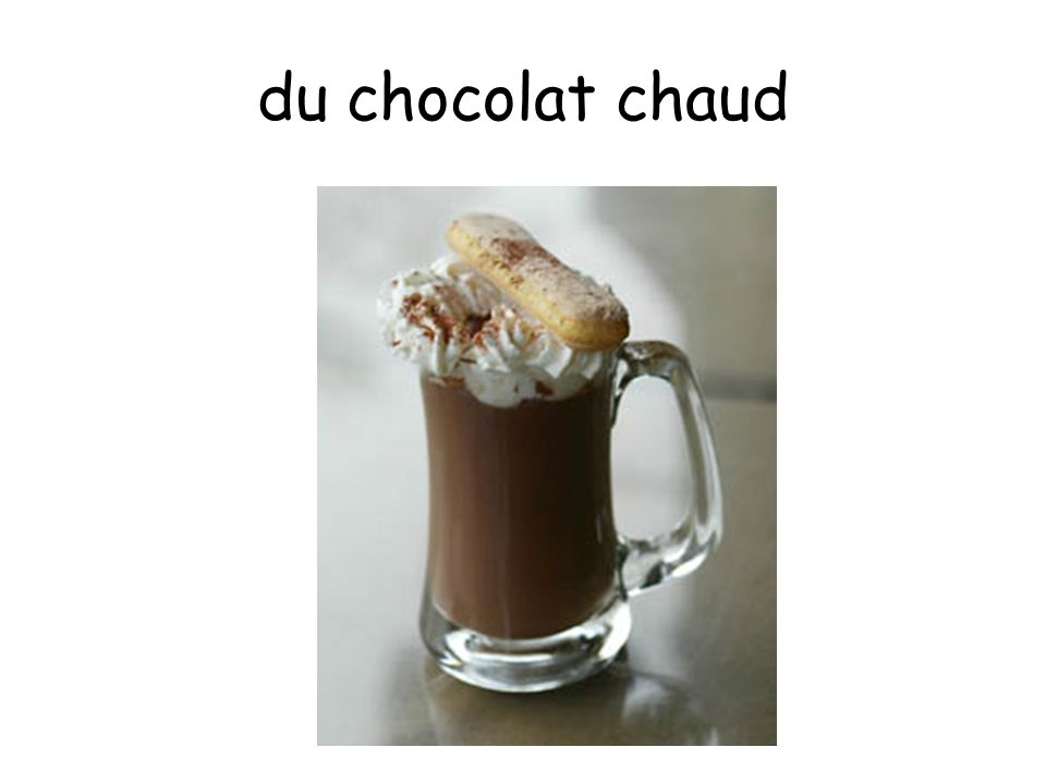 du chocolat chaud
