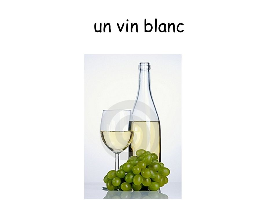 un vin blanc