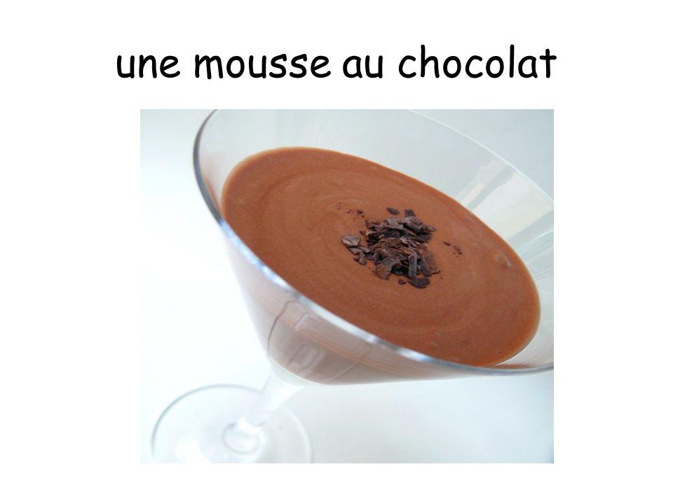 une mousse au chocolat