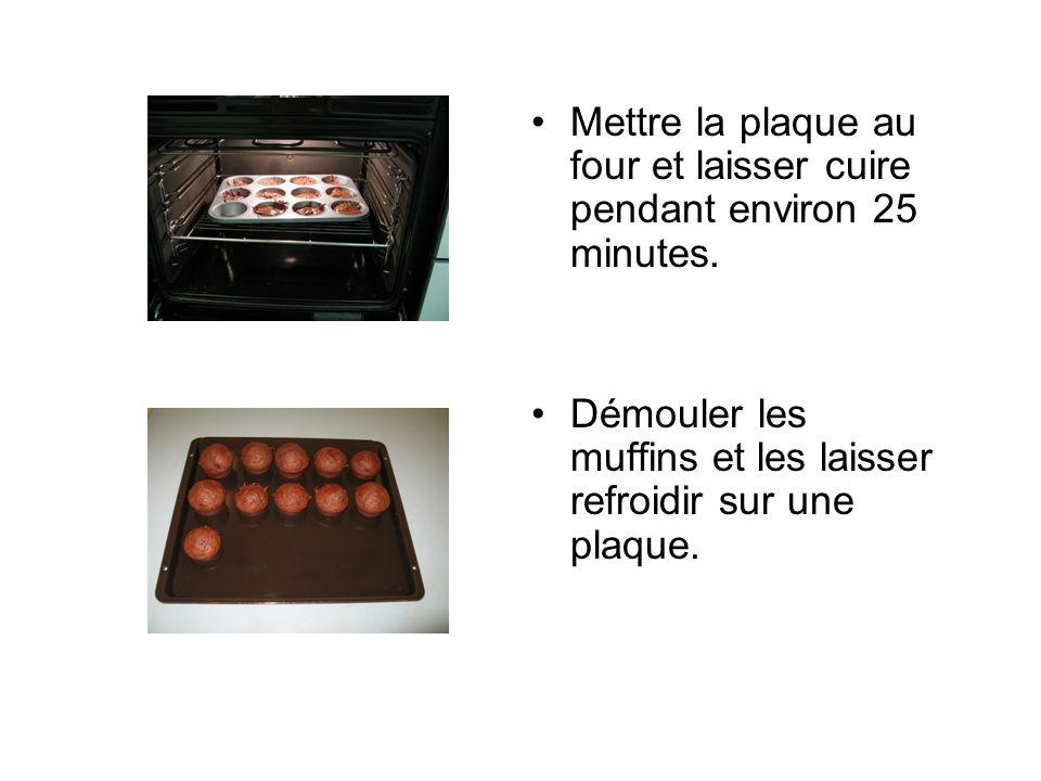 Mettre la plaque au four et laisser cuire pendant environ 25 minutes.