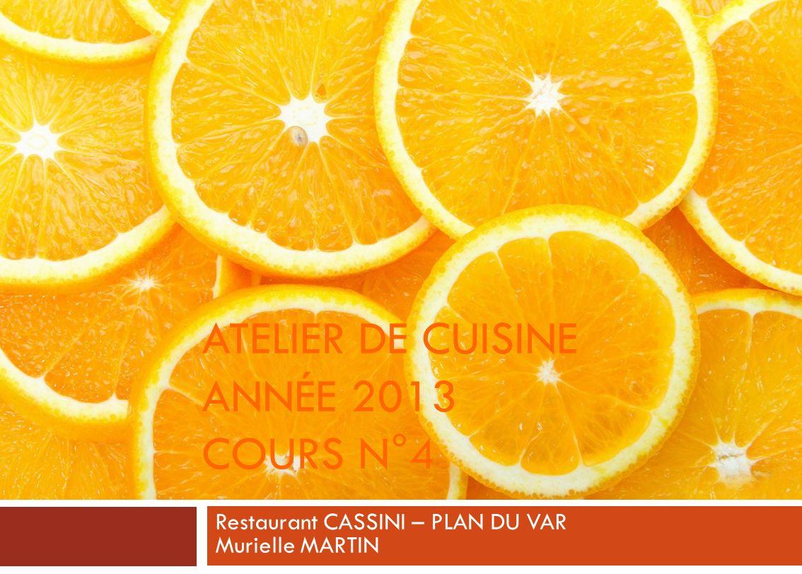 Atelier de cuisine année 2013 cours n°4