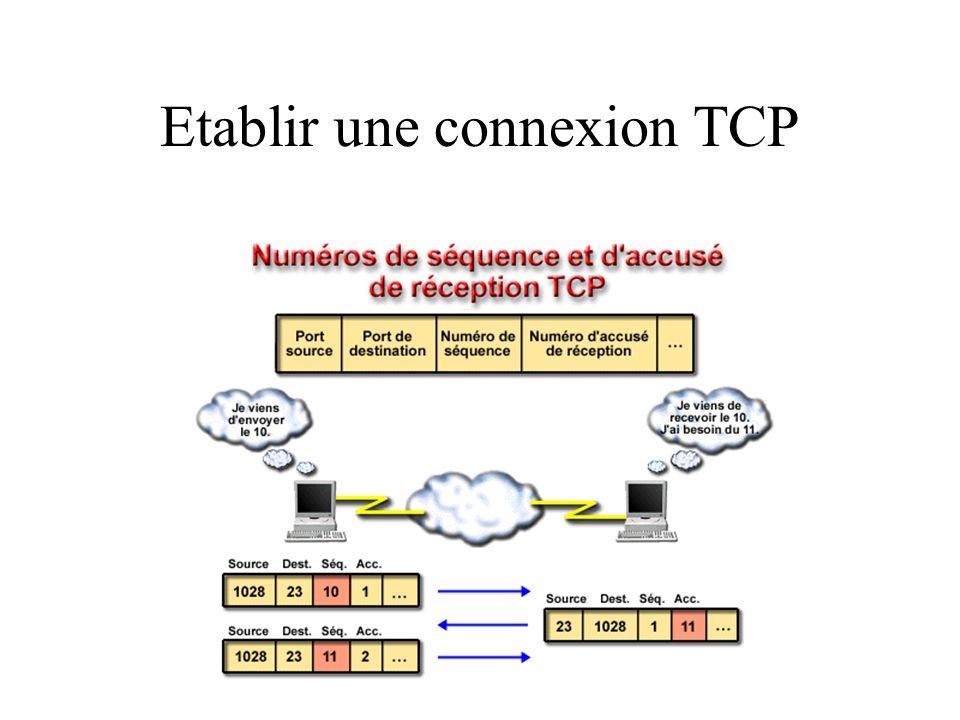 Etablir une connexion TCP