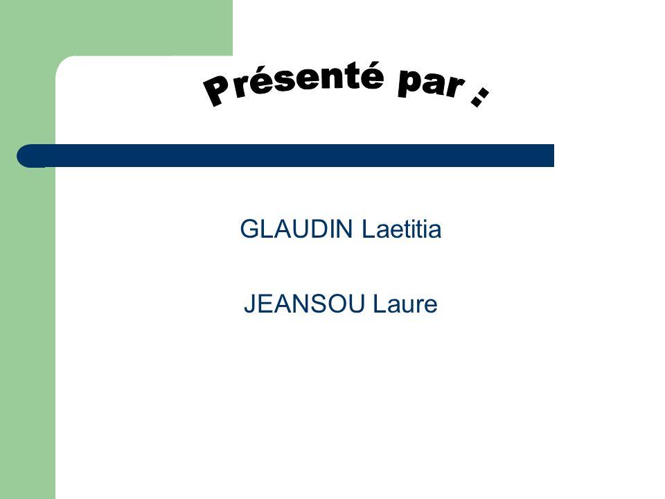 Présenté par : GLAUDIN Laetitia JEANSOU Laure