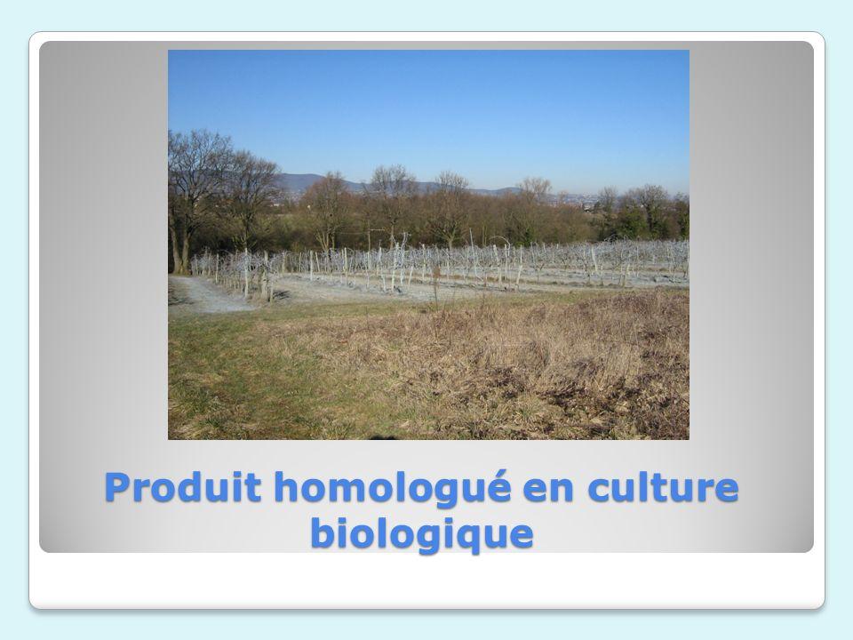 Produit homologué en culture biologique