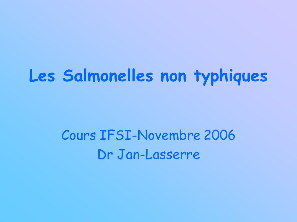 Les Salmonelles non typhiques