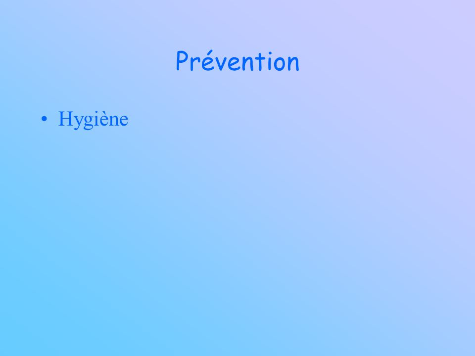Prévention Hygiène