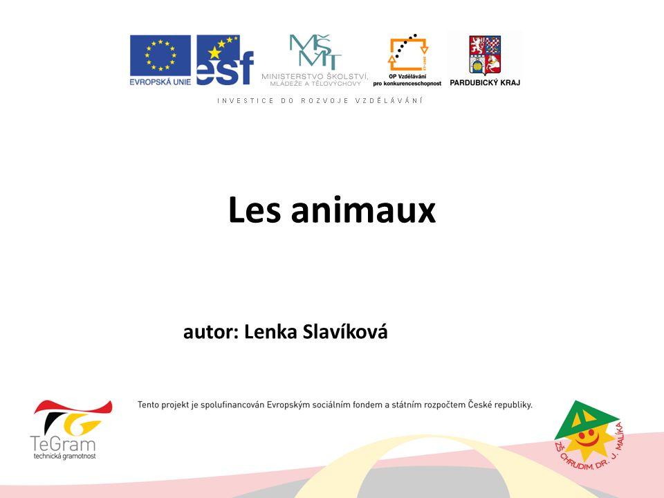 Les animaux autor: Lenka Slavíková