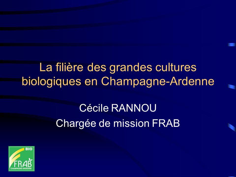 La filière des grandes cultures biologiques en Champagne-Ardenne