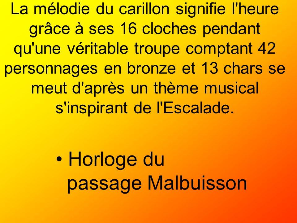 Horloge du passage Malbuisson