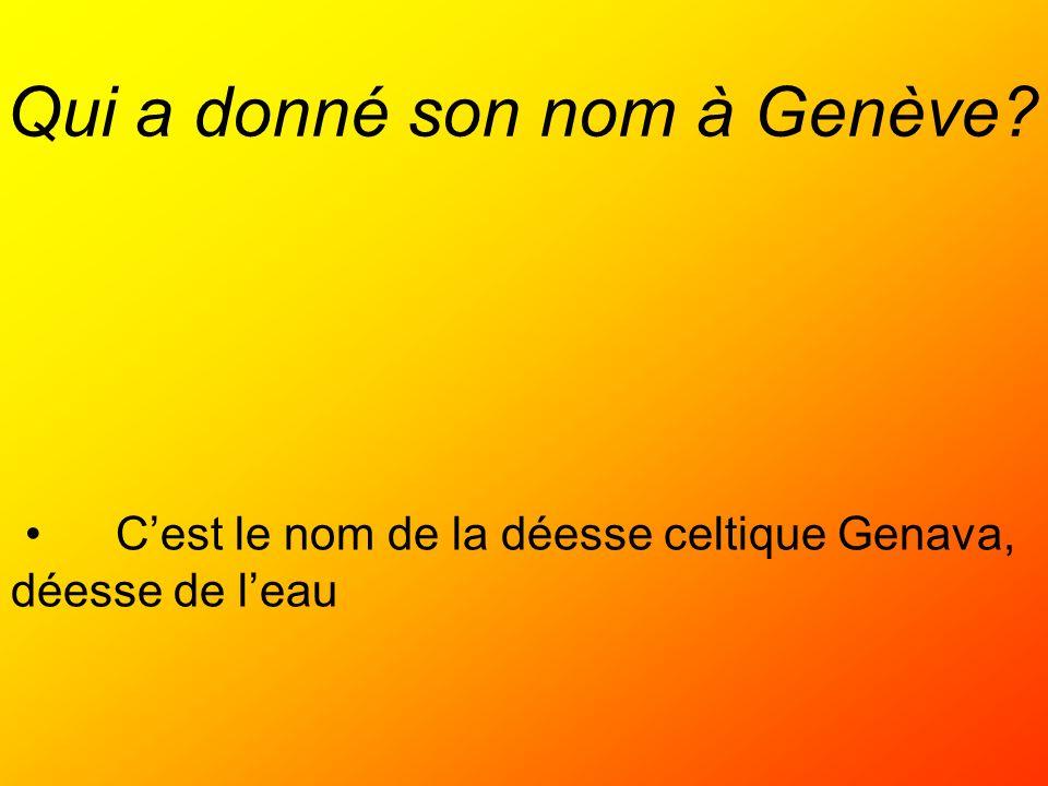Qui a donné son nom à Genève