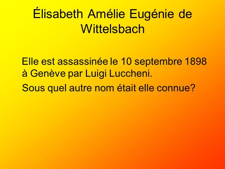 Élisabeth Amélie Eugénie de Wittelsbach
