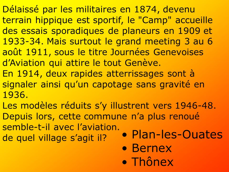 Plan-les-Ouates Bernex Thônex