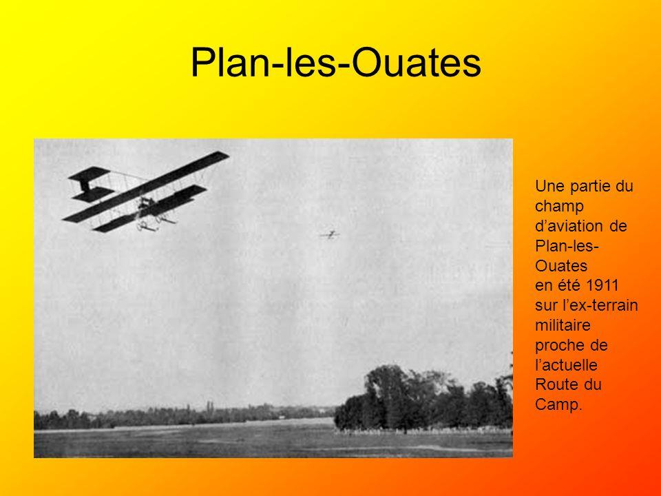 Plan-les-Ouates Une partie du champ d'aviation de Plan-les-Ouates
