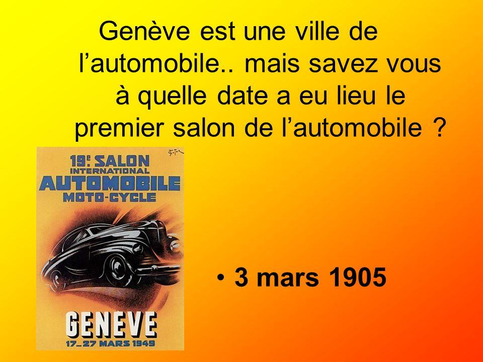 Genève est une ville de l'automobile