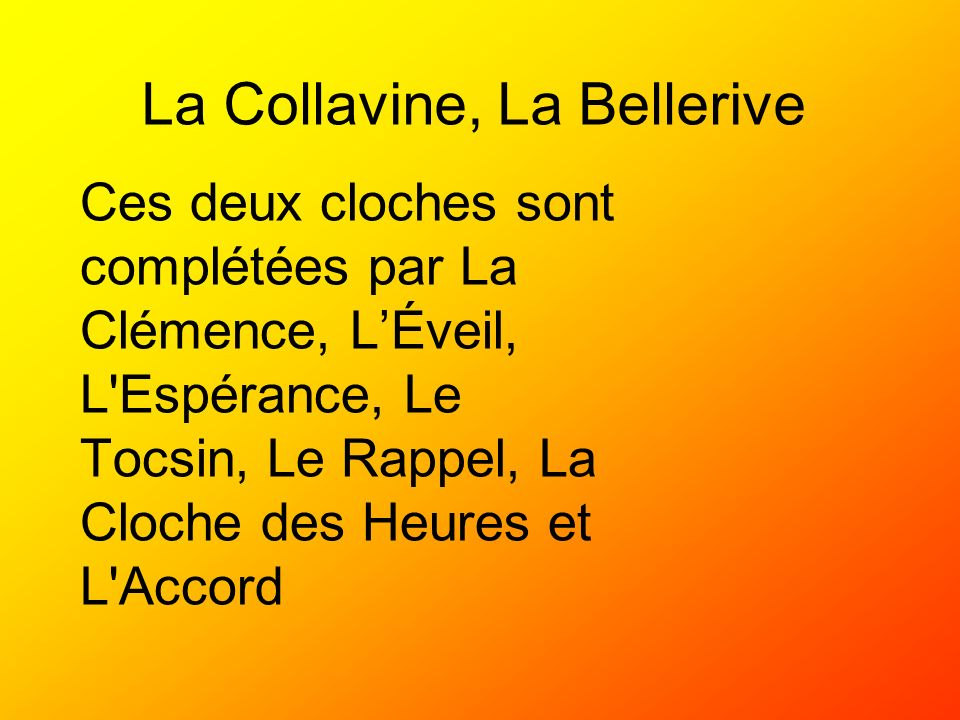 La Collavine, La Bellerive