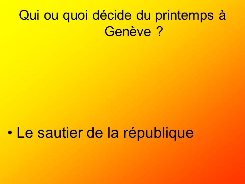 Qui ou quoi décide du printemps à Genève