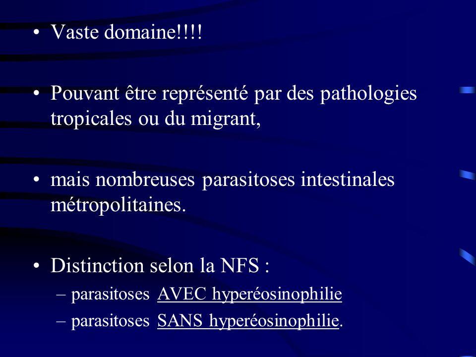 Pouvant être représenté par des pathologies tropicales ou du migrant,