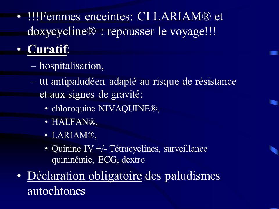 Déclaration obligatoire des paludismes autochtones