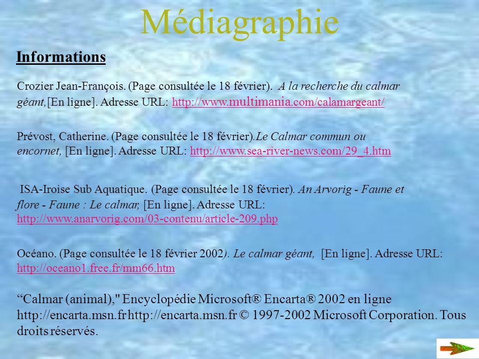 Médiagraphie Informations