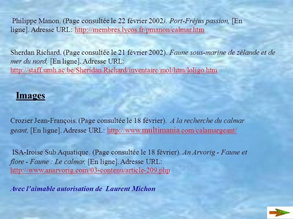Philippe Manon. (Page consultée le 22 février 2002)
