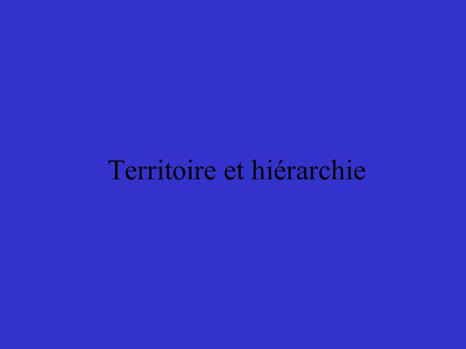 Territoire et hiérarchie