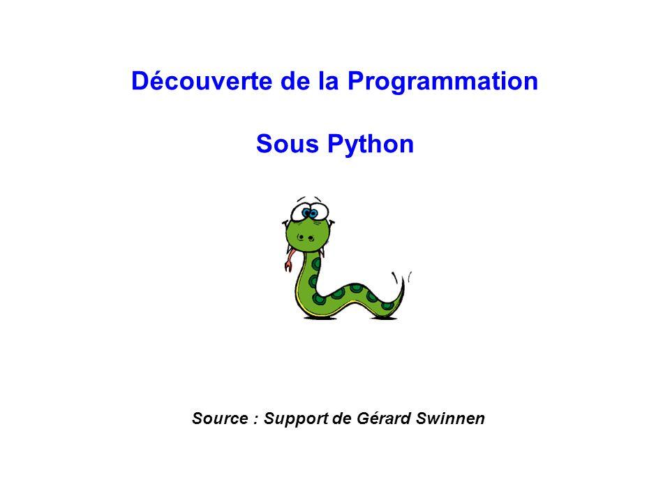 Découverte de la Programmation