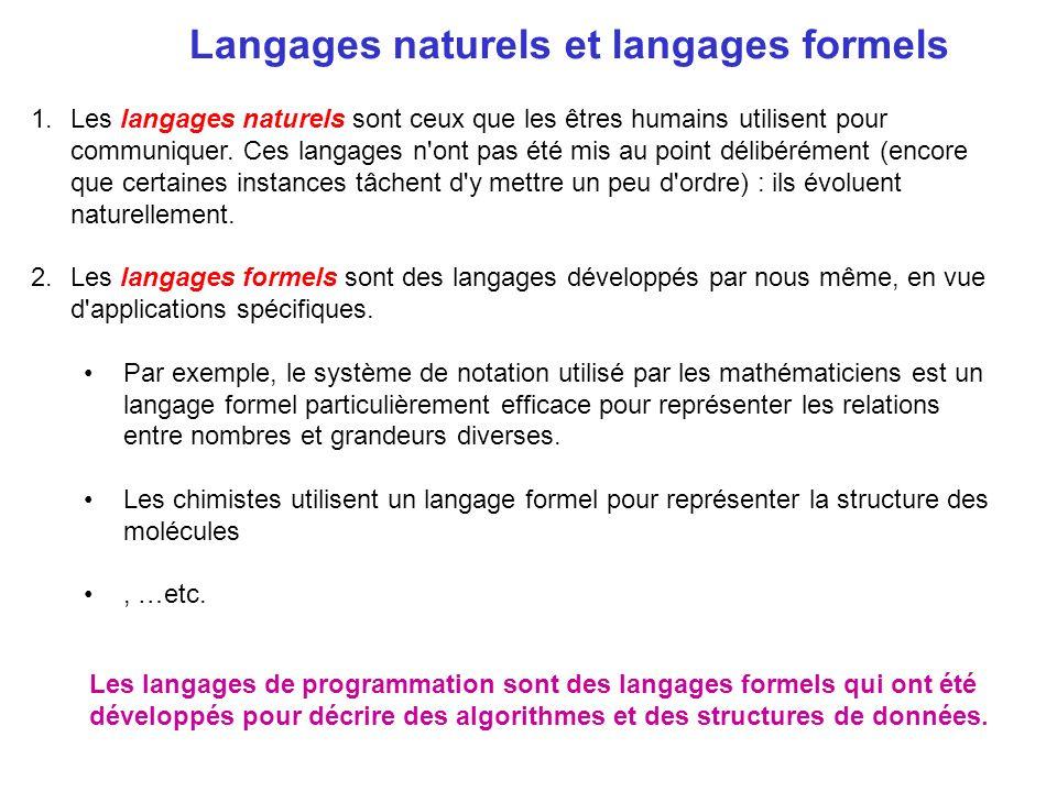 Langages naturels et langages formels
