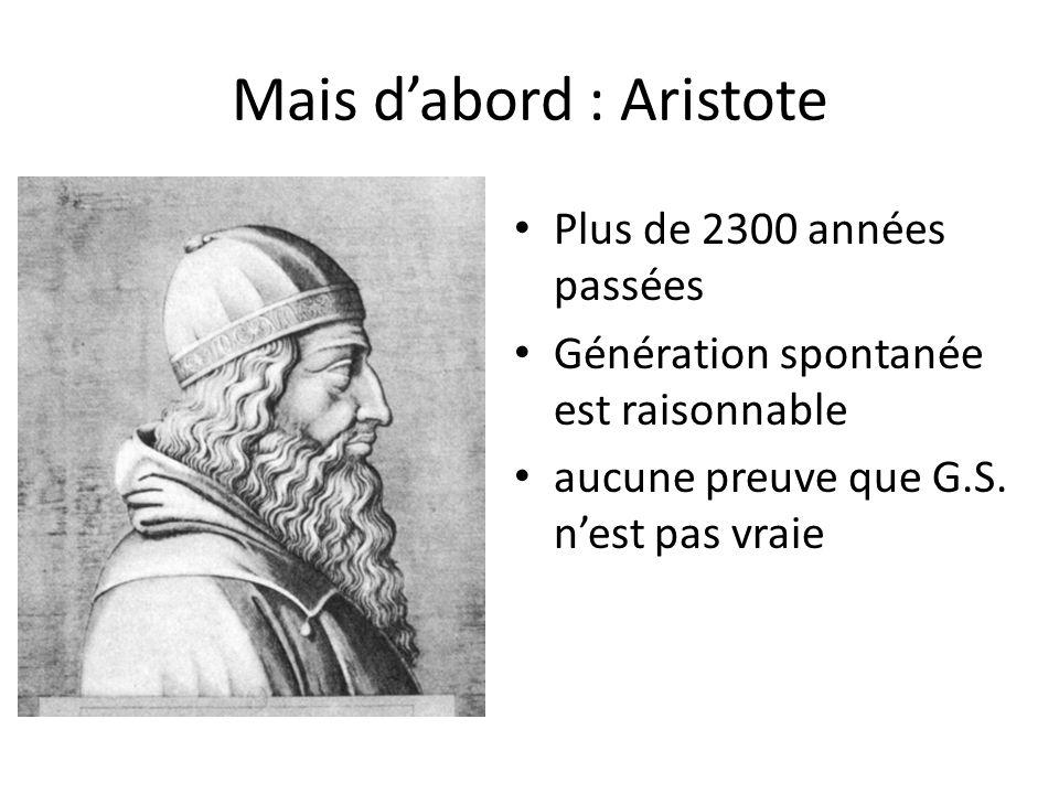 Mais d'abord : Aristote