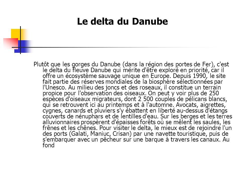 Le delta du Danube