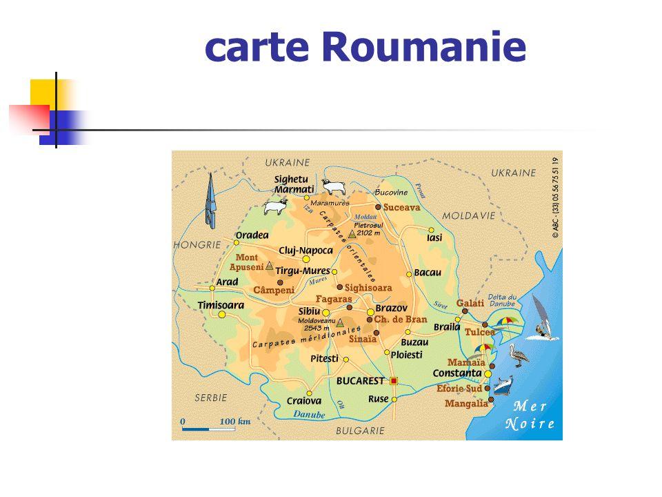 carte Roumanie