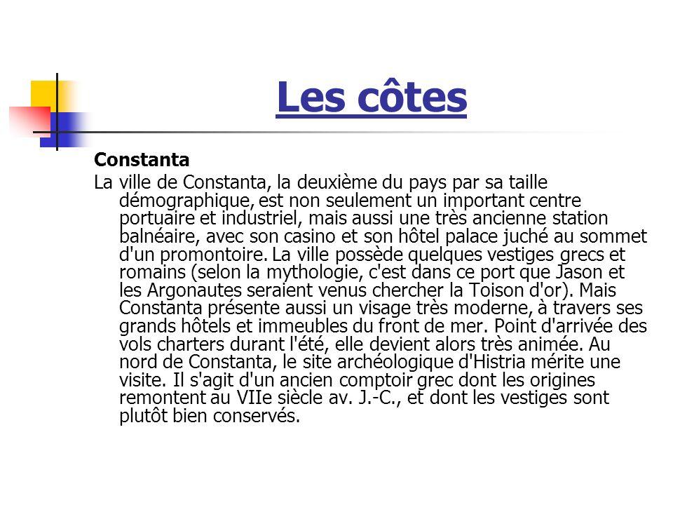 Les côtes Constanta.