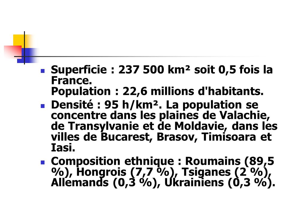 Superficie : 237 500 km² soit 0,5 fois la France