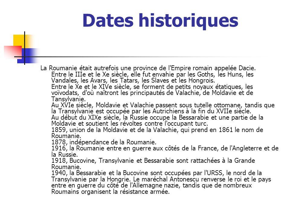 Dates historiques