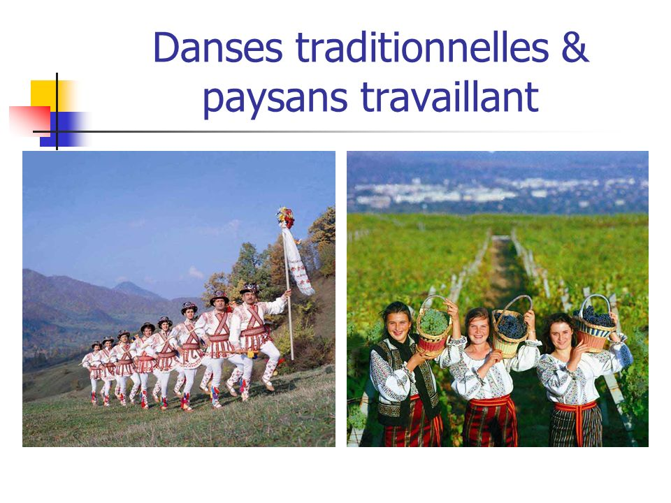 Danses traditionnelles & paysans travaillant