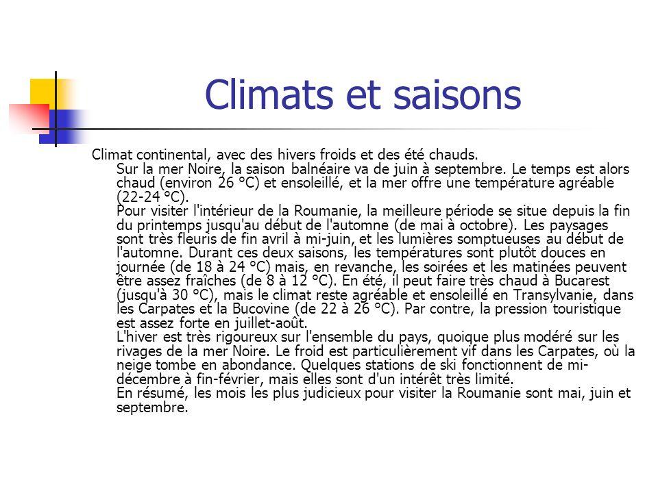 Climats et saisons
