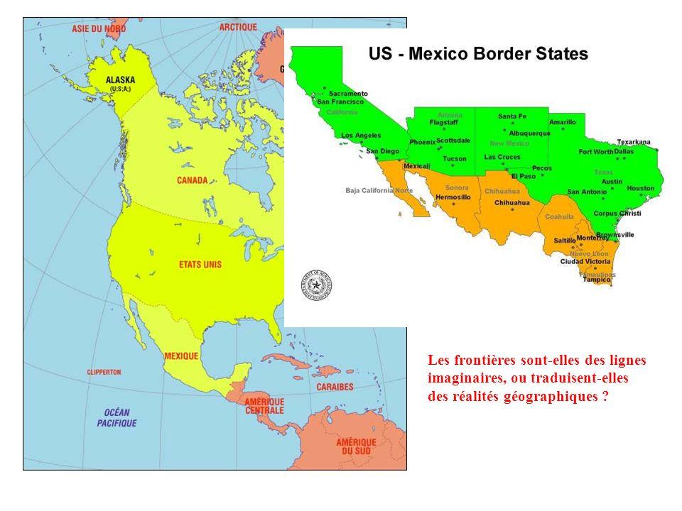 Les frontières sont-elles des lignes imaginaires, ou traduisent-elles des réalités géographiques