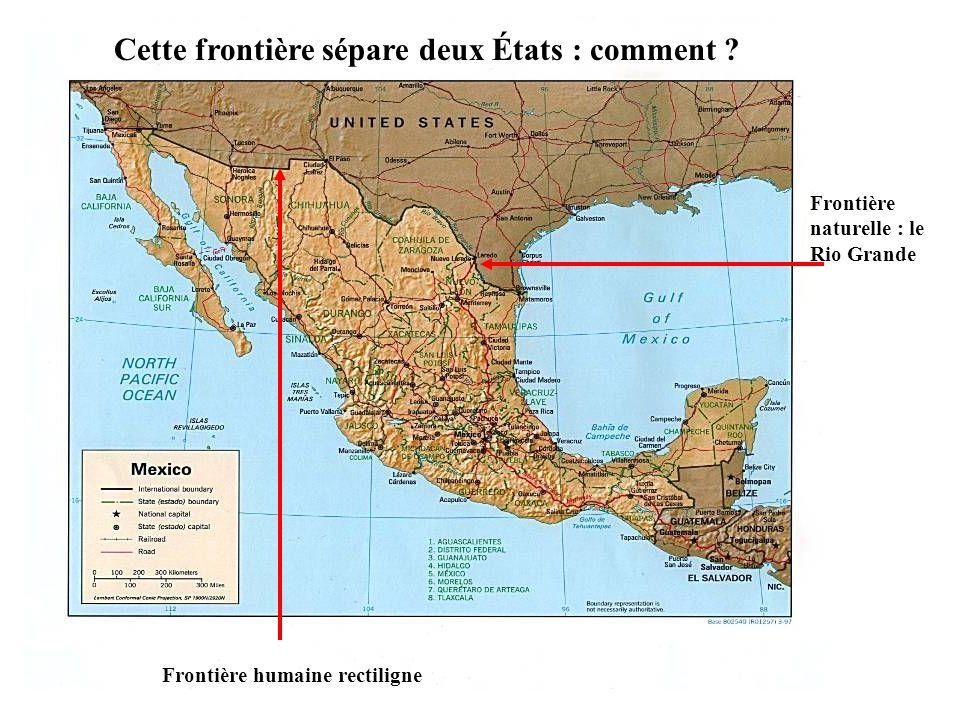 Cette frontière sépare deux États : comment