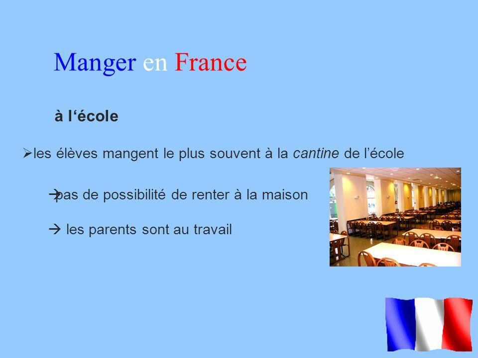 Manger en France à l'école
