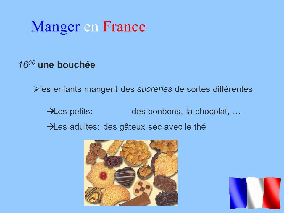 Manger en France 1600 une bouchée