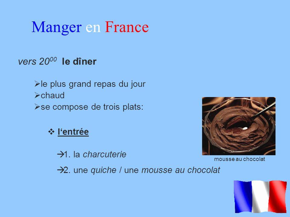 Manger en France vers 2000 le dîner le plus grand repas du jour chaud