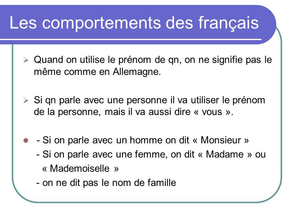 Les comportements des français