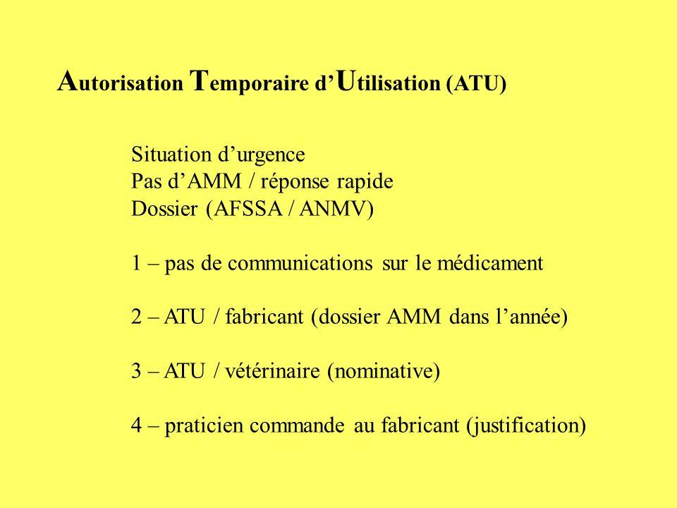 Autorisation Temporaire d'Utilisation (ATU)