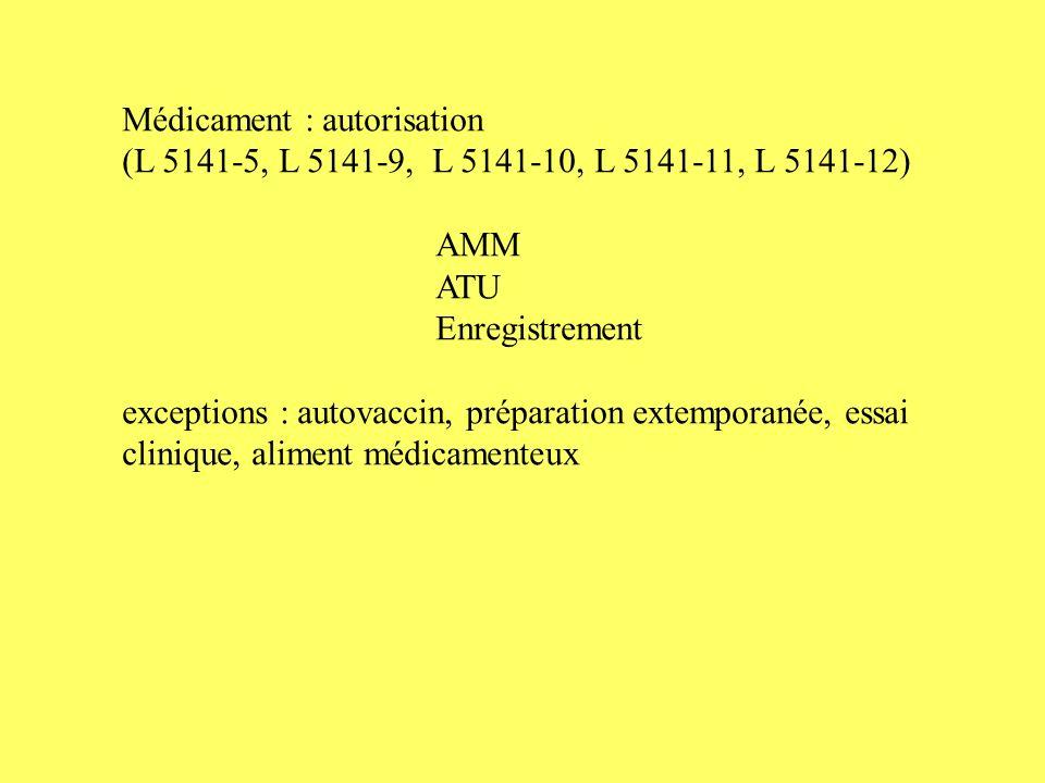 Médicament : autorisation