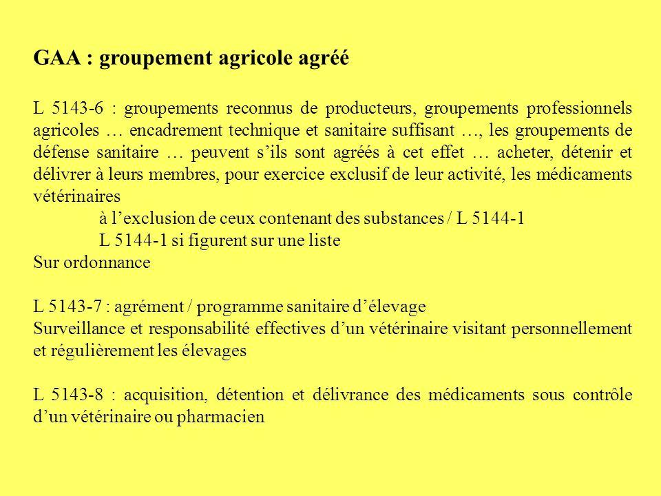GAA : groupement agricole agréé
