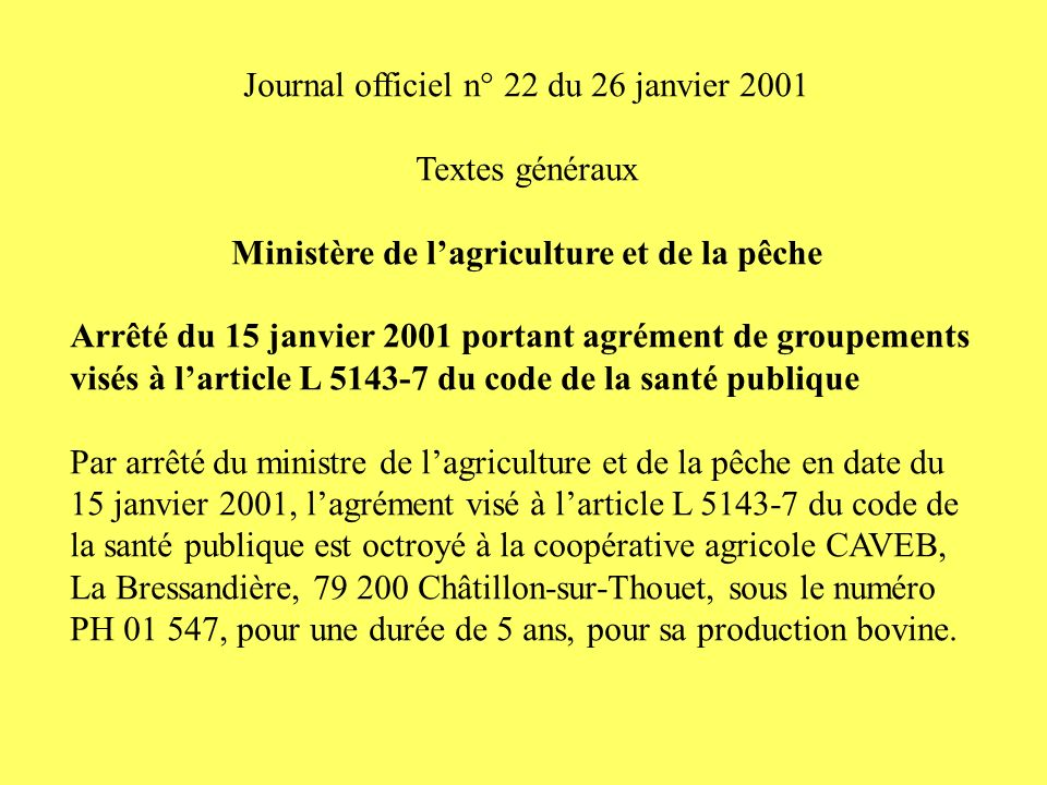 Ministère de l'agriculture et de la pêche