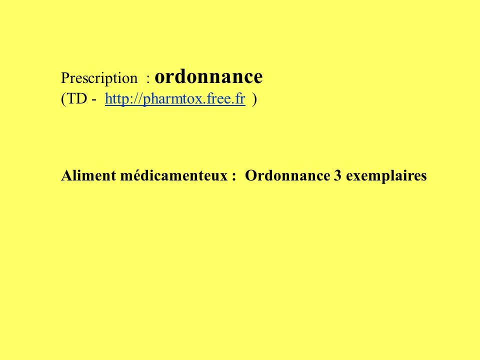 Prescription : ordonnance