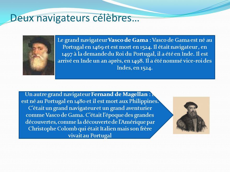 Deux navigateurs célèbres…