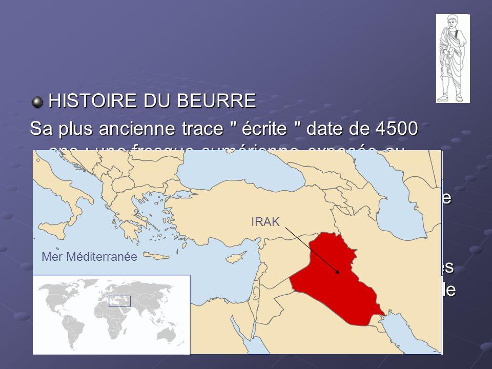 HISTOIRE DU BEURRE