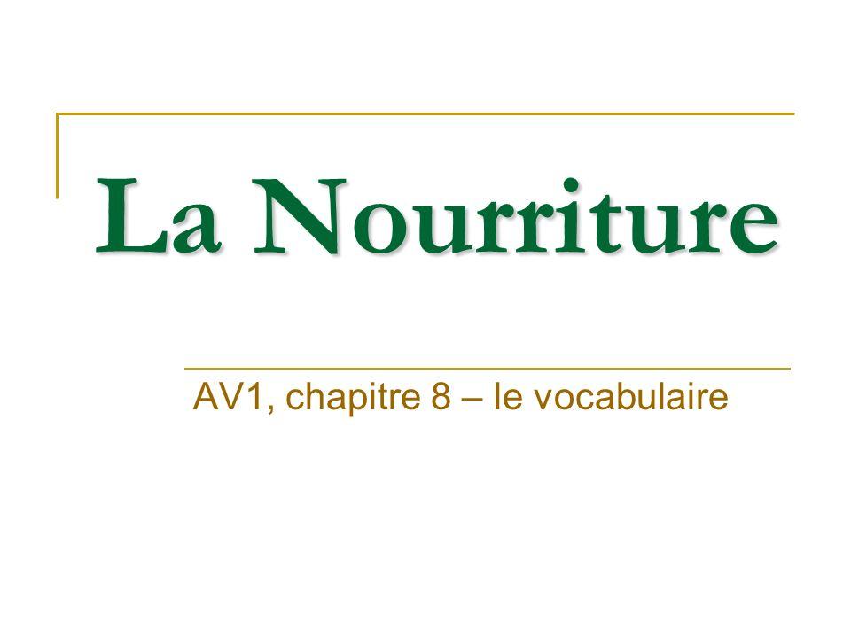 AV1, chapitre 8 – le vocabulaire