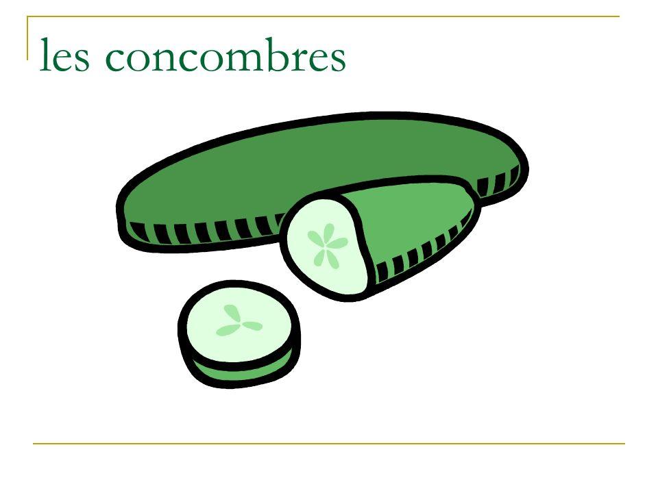 les concombres